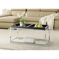 Convenience Concepts 131382BB Palm Beach Coffee Table with T