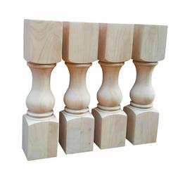 """18"""" Traditional Coffee Table  Legs- Unfinished Hardwood- Set"""