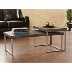 2-Piece Nested Coffee Table, Burnt Oak Furniture Benches Sto