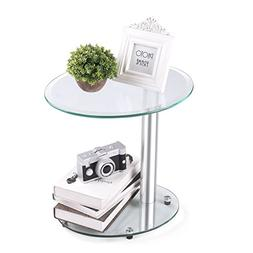 Rfiver Oval Coffee Table Small Side Table End Table, Save Sp