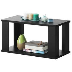 2-Tier Coffee Table Rectangular Accent Cocktail Table Modern