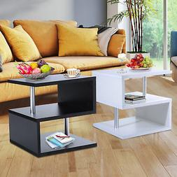 2 tier side end coffee table storage