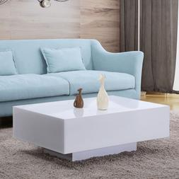 33 design high gloss white coffee table