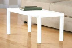 3537496 parsons modern coffee table white