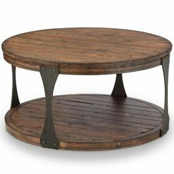 36 round coffee table in bourbon