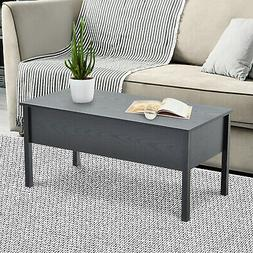 "39"" Modern Lift Top Coffee Table Extendable Floating Desk"