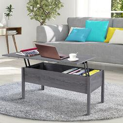 """39"""" Modern Lift Top Coffee Table Floating Extendable Desk"""
