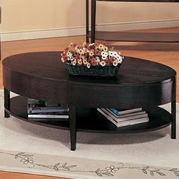 Coaster Gough Casual Cappuccino Occasional Oval Coffee Table