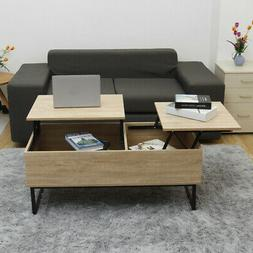 41'' Lift Top with Storage Coffee Table Modern Wood Living R
