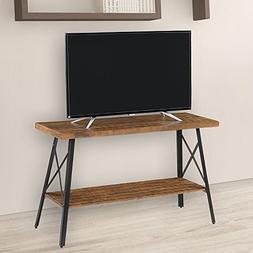 "Olee Sleep 48"" Solid Wood & Dura Metal Legs Sofa Table/TV"