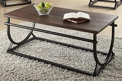 ACME Furniture 80455 Debbie Coffee Table, Cherry & Black