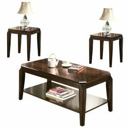 Acme Furniture 80655 Docila 3Piece Coffee End Table Set, Wal