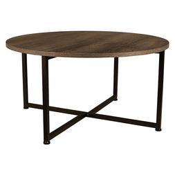 Household Essentials 8079-1 Round Coffee Table