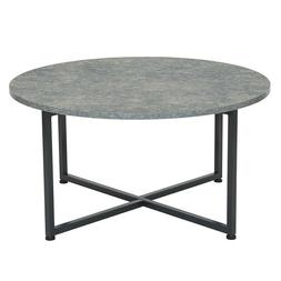 Household Essentials 8096-1 Round Coffee Table