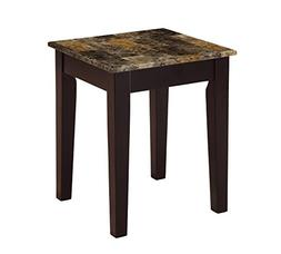 ACME Furniture 84557 Dusty II End Table, Light Brown and Che