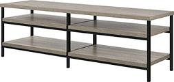 "Ameriwood Home  Elmwood 60"" TV Stand in Medium Oak Finish, S"