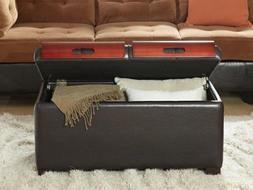Convenience Concepts Designs4Comfort Storage Ottoman with Tr