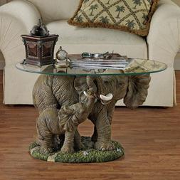 Design Toscano Elephants Majesty African Decor Coffee Table