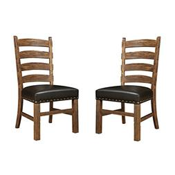 Emerald Home Chambers Creek Brown Dining Chair with Upholste