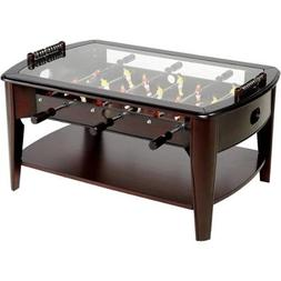 "Foosball Coffee Game Wood 42"" Table Tempered Glass Top Table"