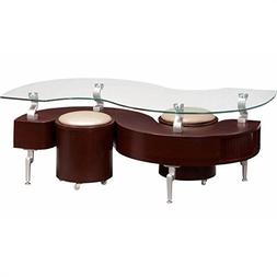 Global Furniture USA T288 Mahogany Occasional Coffee Table w