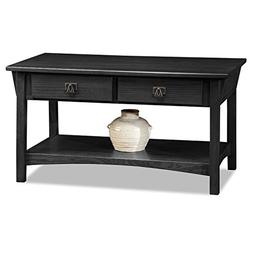 Mission Two Drawer Coffee Table - Slate Finish