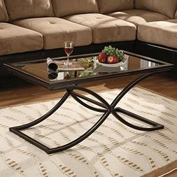 SEI Southern Enterprises Vogue Cocktail Coffee Table, Black
