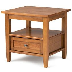 Simpli Home AXWSH002 Warm Shaker Solid Wood End Side Table i
