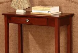 Small Console Sofa Table Rectangular Solid Wood Drawer Stora