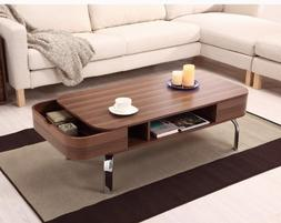 Accent Cocktail Coffee Table With Open Drawer
