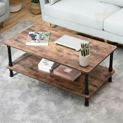 Accent Industrial Modern Coffee Table Tea End With Storage S