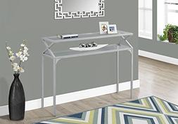 "Monarch Accent Table - 42""L / Silver Metal Hall Console"