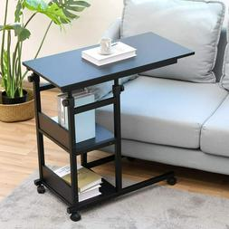 Adjustable Sofa Side End Table Mobile Snack Coffee Laptop Ta