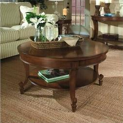 Magnussen Aidan Round Cocktail Table and End Table Set in Ci