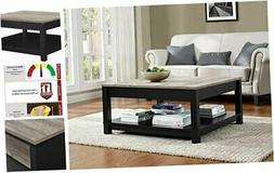 Ameriwood Home Carver Coffee Table, Black Black Coffee Table