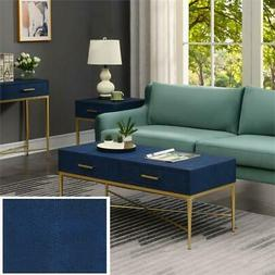 ashley coffee table in blue gold