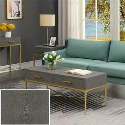 Convenience Concepts Ashley Coffee Table in Gray/Gold