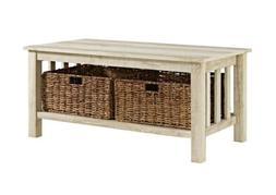 WE Furniture AZ40MSTWO Coffee Table, White Oak
