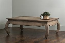 East At Main Martin Brown Teakwood Coffee Table,