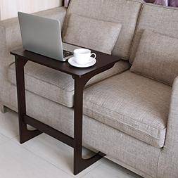 HOMFA Bamboo Snack Table Sofa Couch Coffee End Table Bed Sid