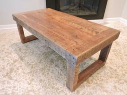 barnwood coffee table 3 inch rustic barn