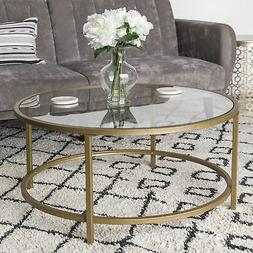 bcp 36in round glass coffee table w