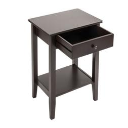 Bedside Table With Drawers Small Organizer Wood Home Furnitu