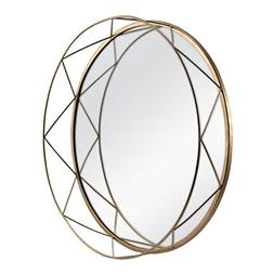 Better Homes & Gardens 16in Gold Metal Accent Mirrored Tray