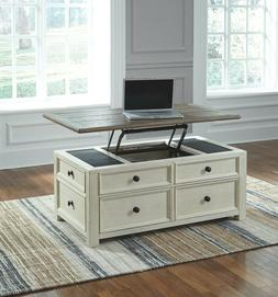 Signature Design by Ashley Bolanburg Two-tone Wood Lift-top
