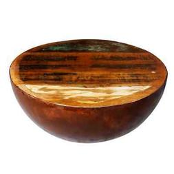 vidaXL Bowl Shaped Coffee Table Solid Reclaimed Wood with St