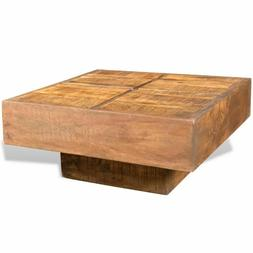 vidaXL Brown Antique-style Square Mango Wood Coffee Table