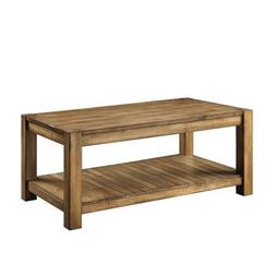 Bryant Solid Wood Rustic Maple Brown Coffee Cocktail Table w