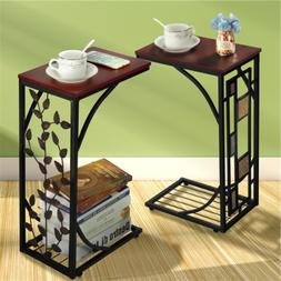C Shaped End Table Living Room Sofa Table Coffee Table Snack