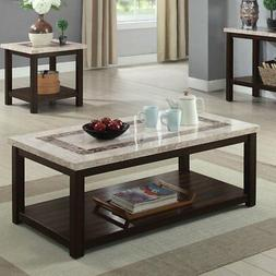 Furniture of America Calvin Marble Coffee Table